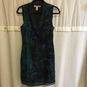 Forever 21 Green & Black Career Dress, Size S